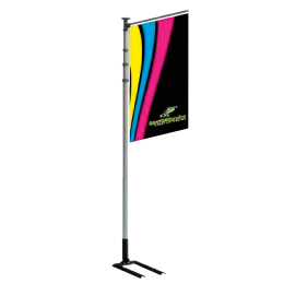 thumb car flag pole