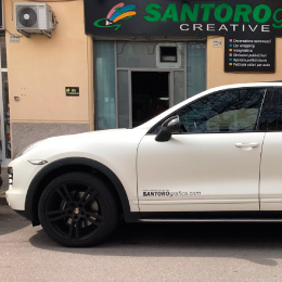 gallery car wrapping porsche bianco