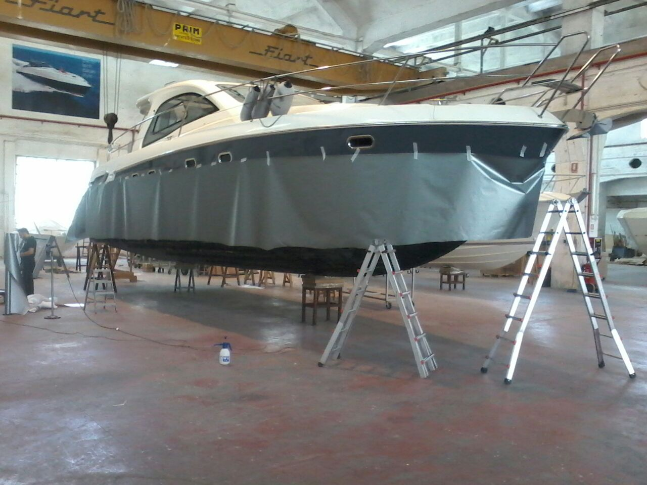Fiart 45 boat wrapping vista 5