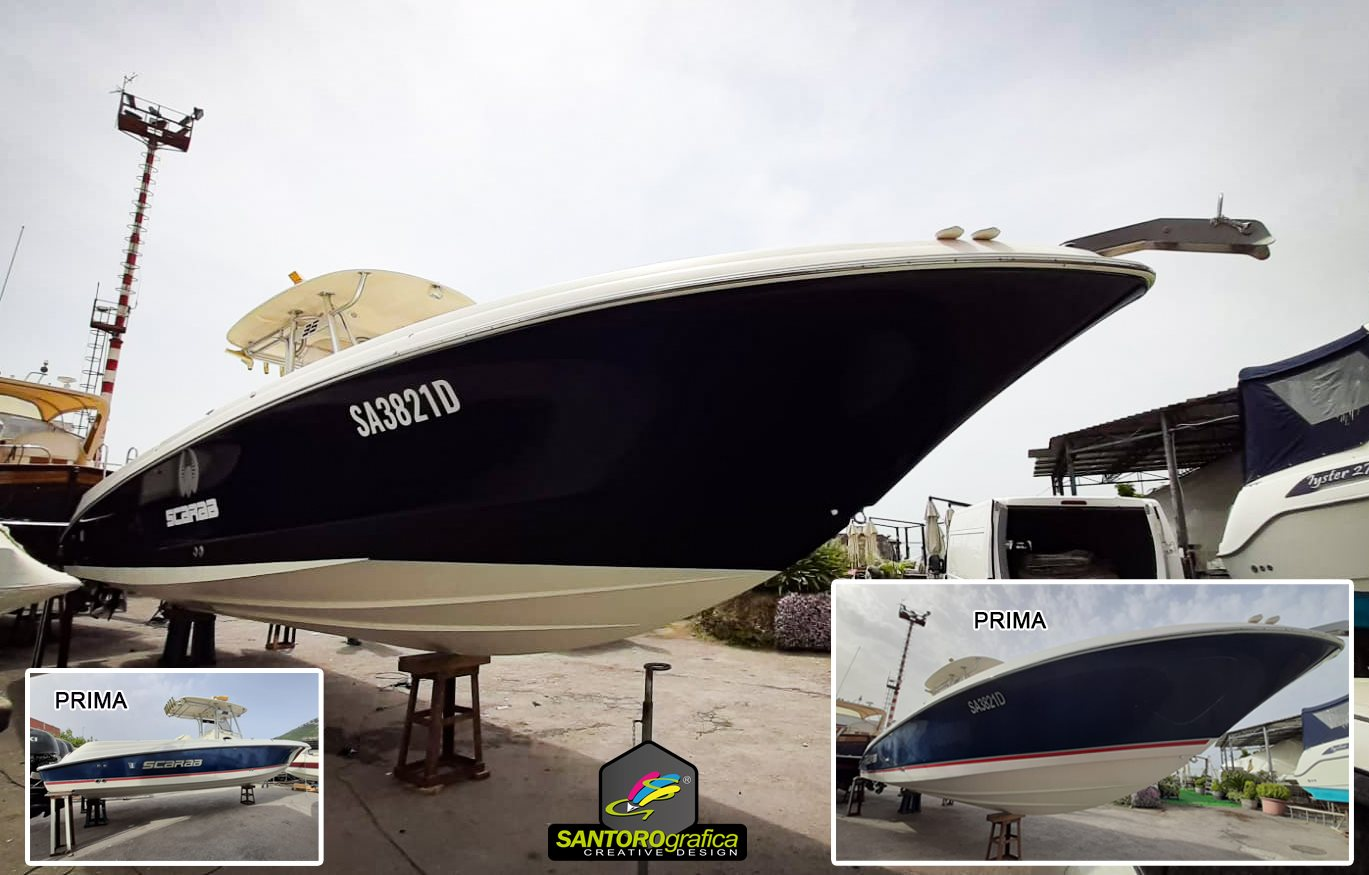 boat wrapping pellicola blu navy 2