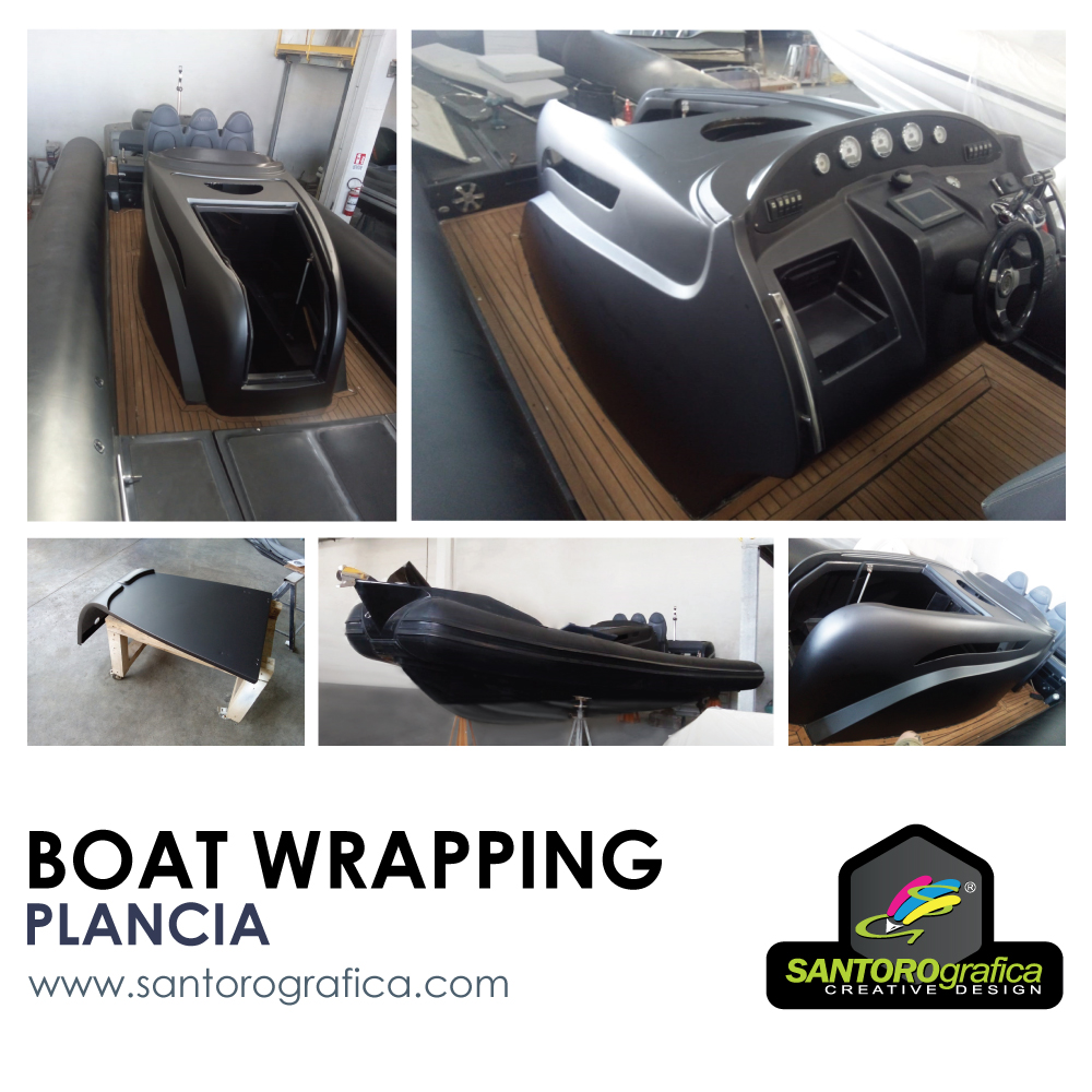 wrapping plancia gommone