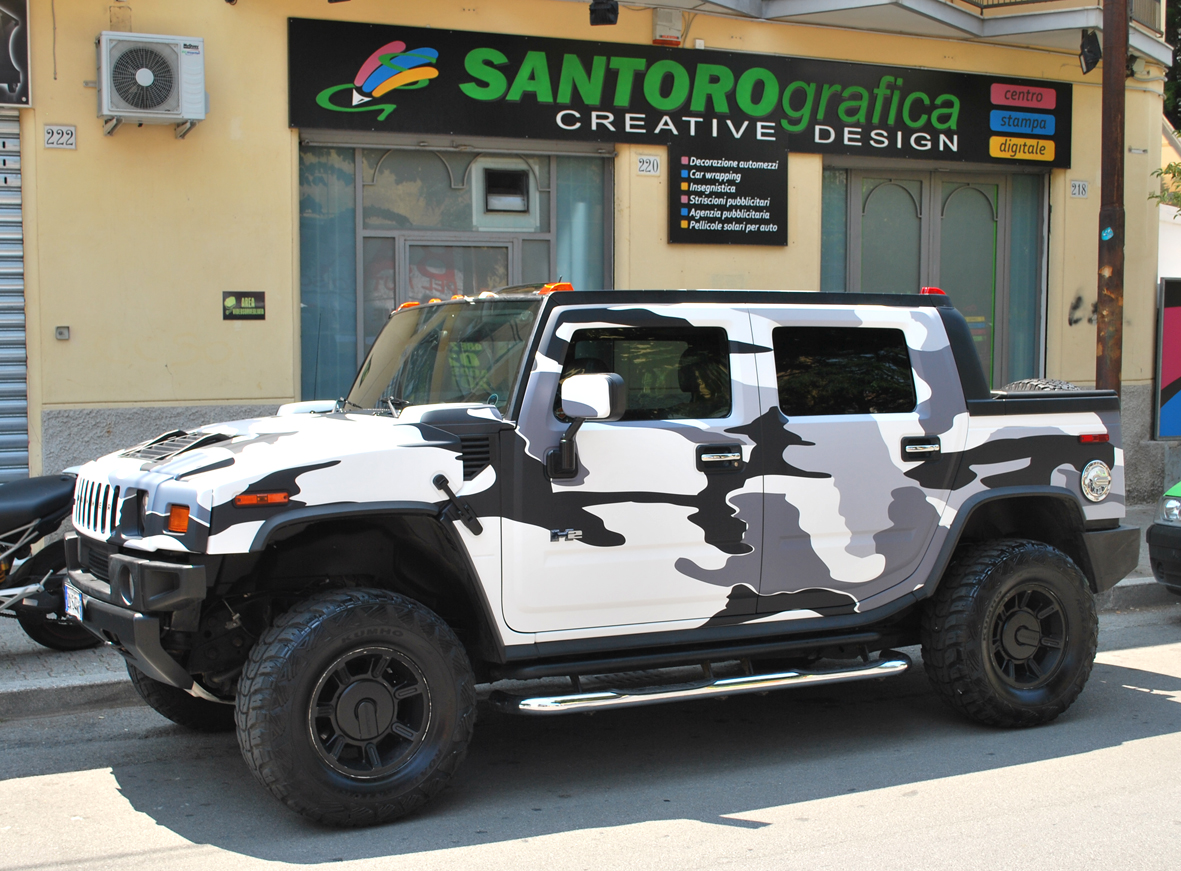 wrapping hummer camo nero 10