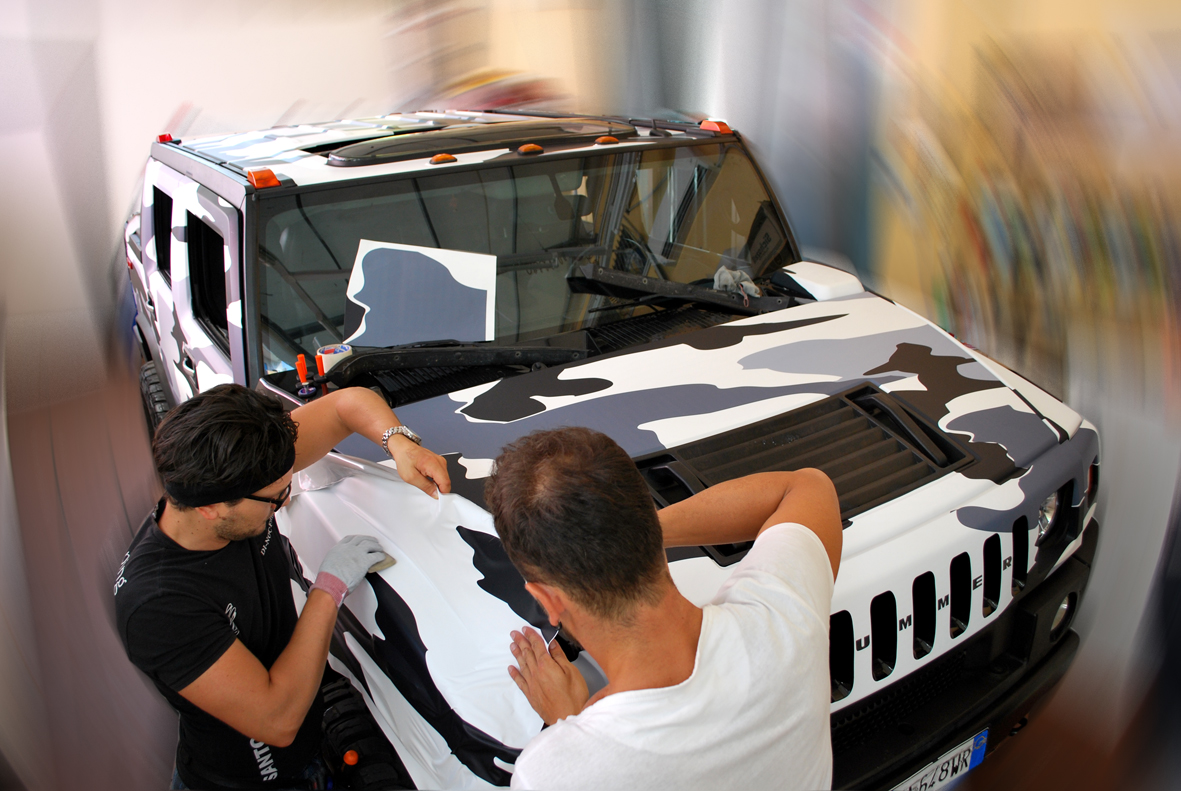 wrapping hummer camo nero 8
