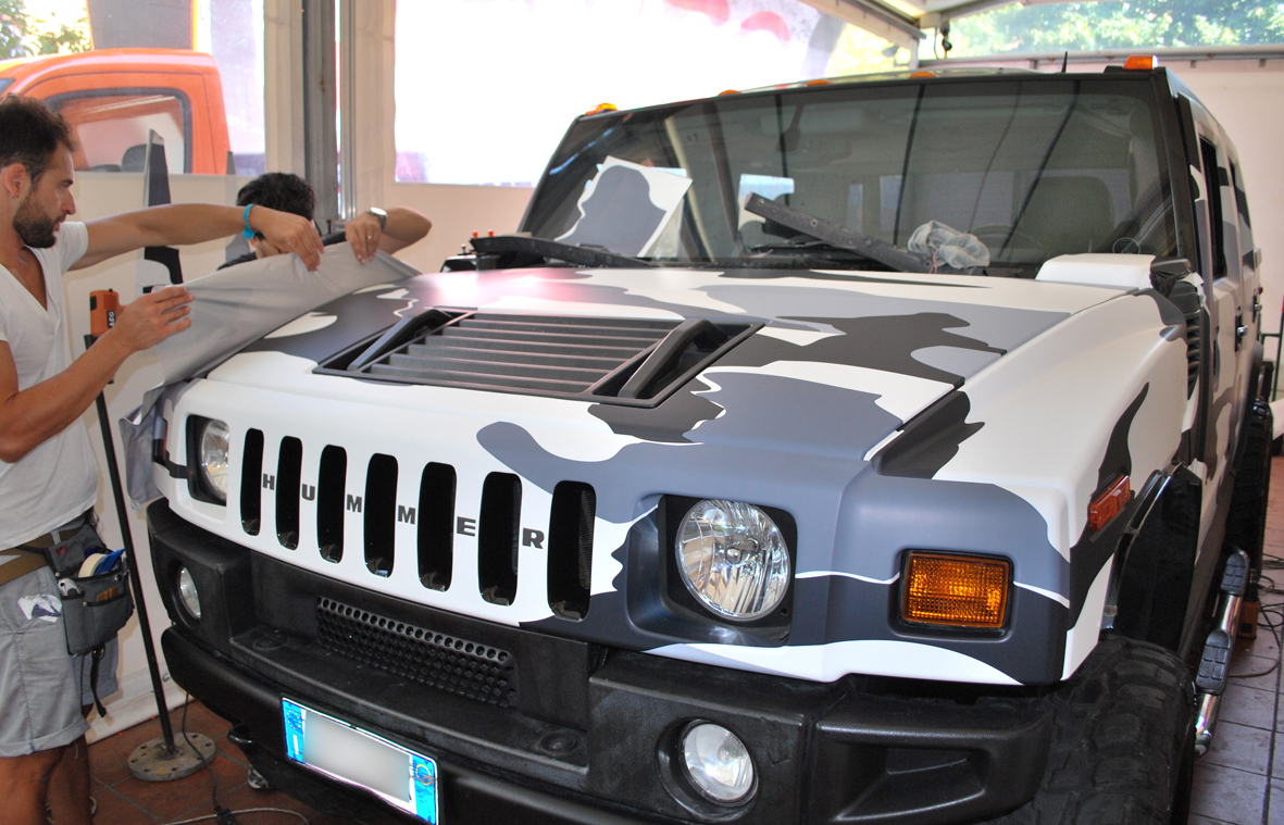 wrapping hummer camo nero 9