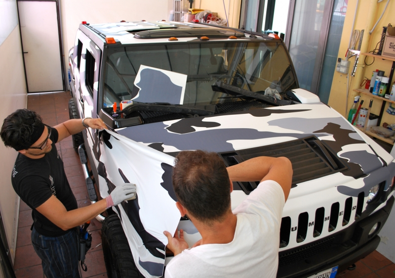 wrapping hummer camouflage vista 6