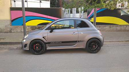 car wrapping carbonio 500 abarth 1