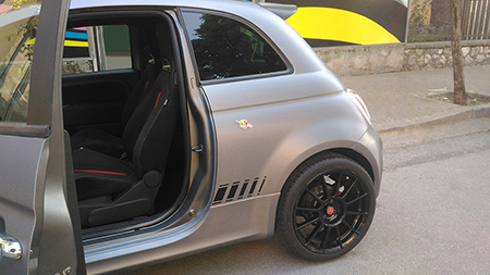 car wrapping carbonio 500 abarth 4