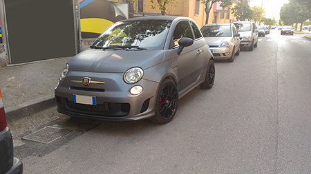 car wrapping carbonio 500 abarth 7