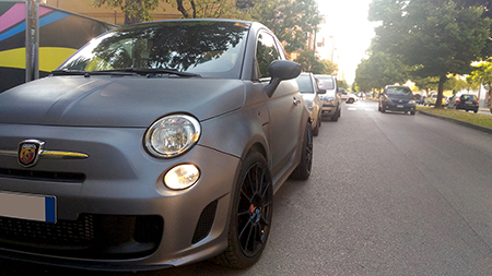 car wrapping carbonio 500 abarth 8