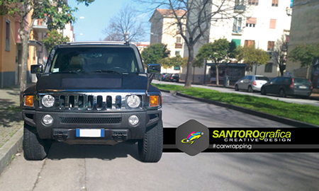 hummer car wrapping nero opaco 1