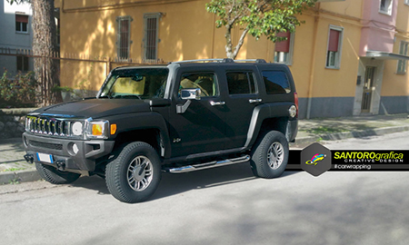 hummer car wrapping nero opaco 3