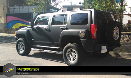 hummer car wrapping nero opaco 4