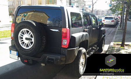 hummer car wrapping nero opaco 5