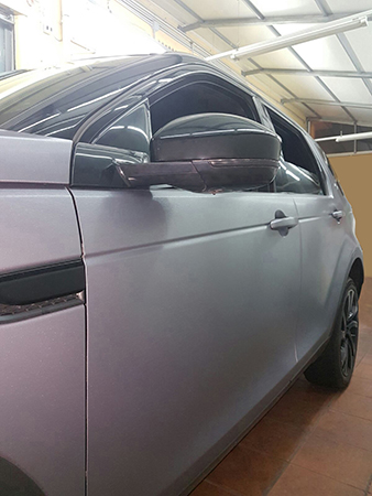 car wrapping discovery argento spazzolato 8