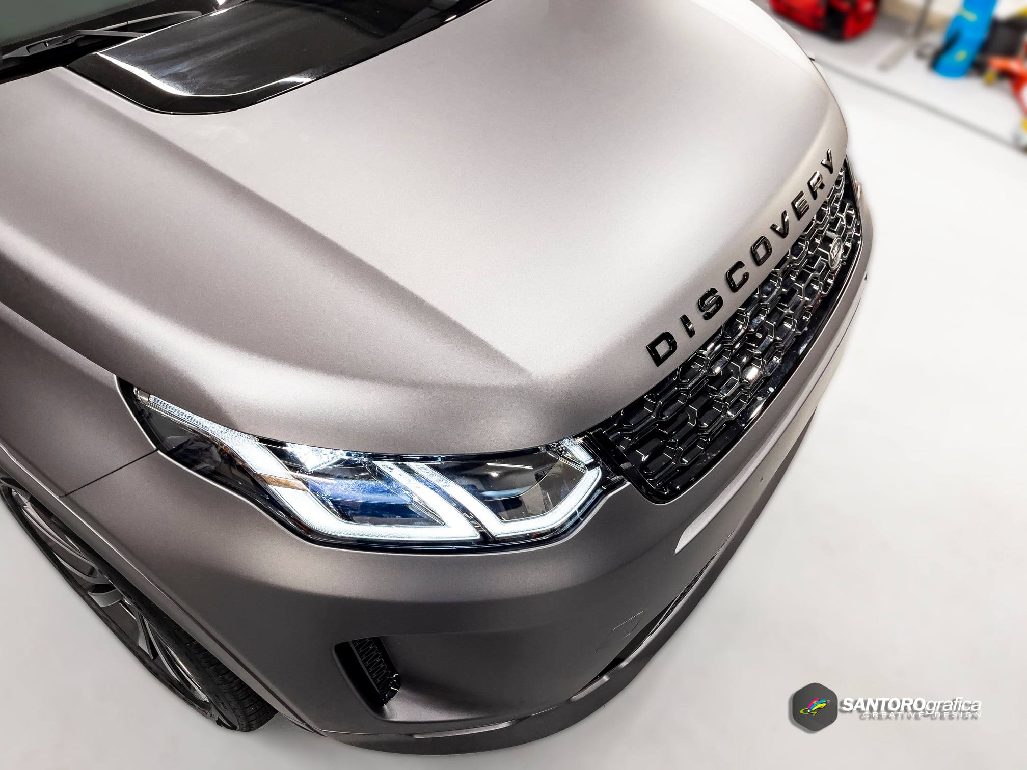 car wrapping land rover discovery grigio 3