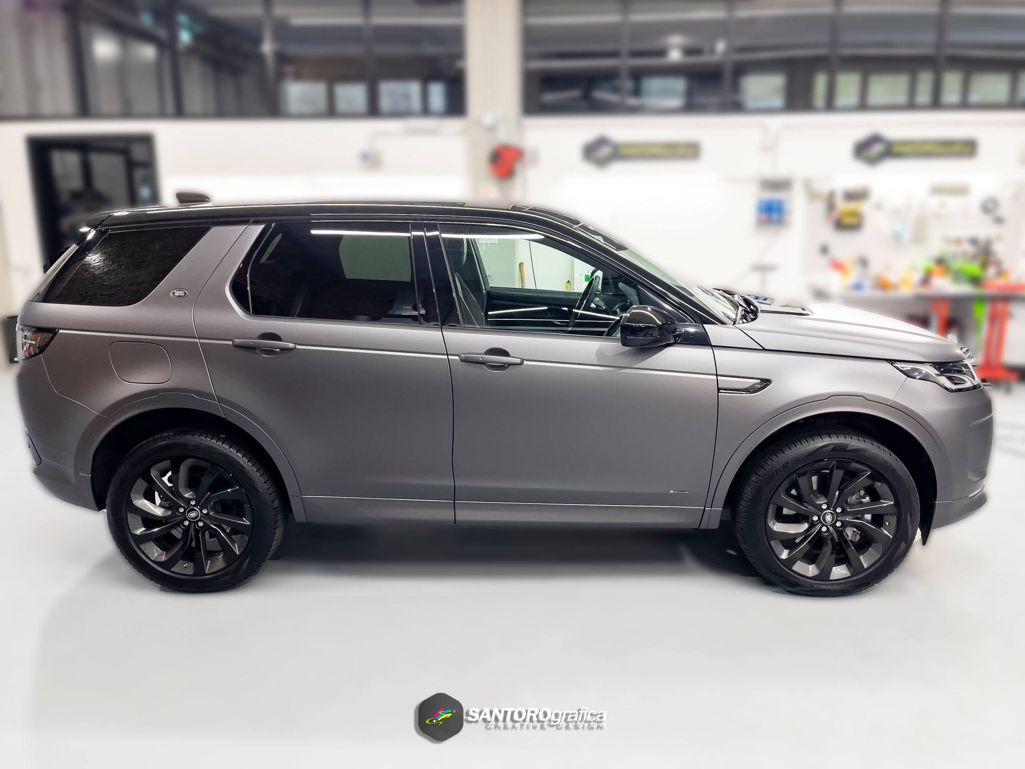 car wrapping land rover discovery grigio 4