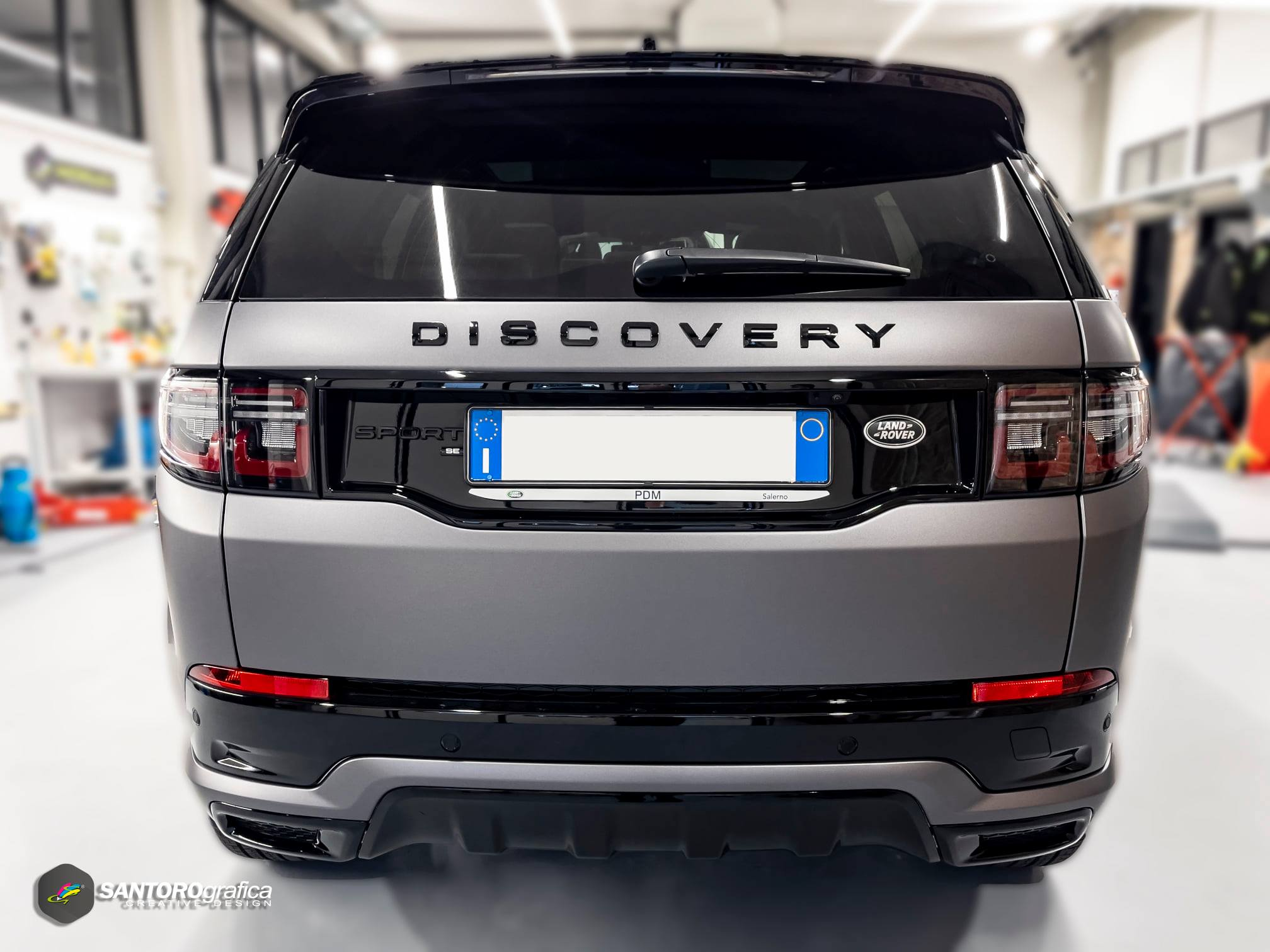 car wrapping land rover discovery grigio 5
