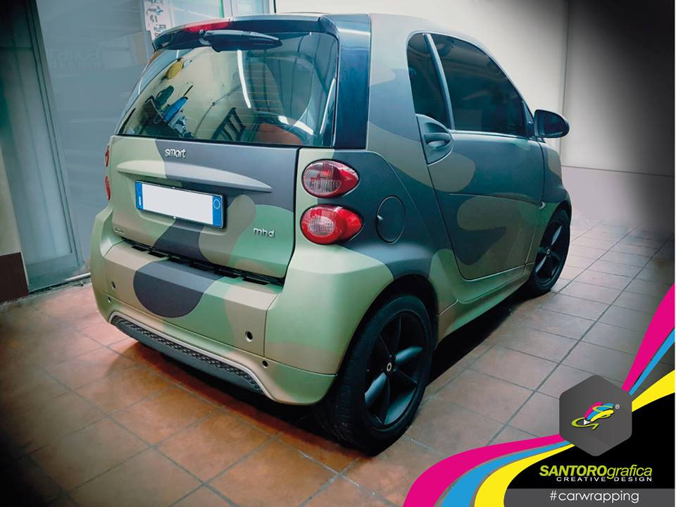 car wrapping smart camo verde integrale 3