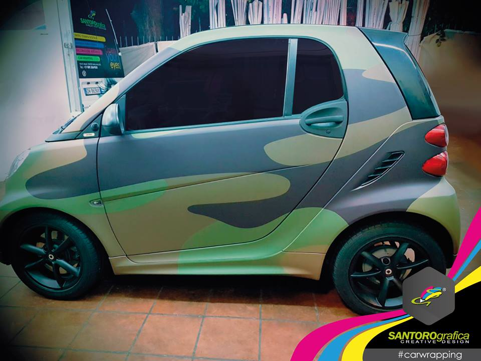 car wrapping smart camo verde integrale 4
