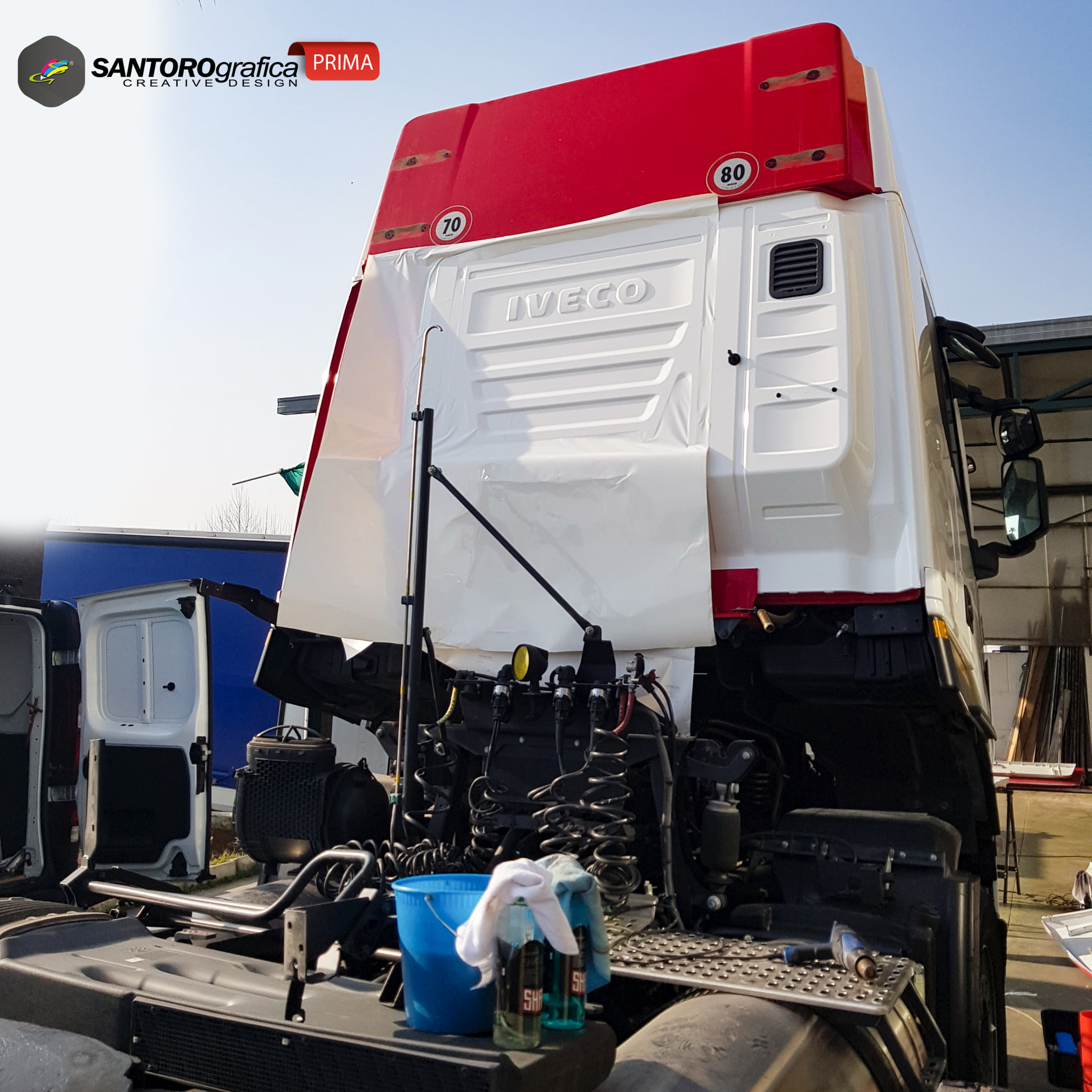 wrapping camion iveco np 400 stralis 2