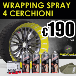 wrapping spray 4 cerchioni 190 euro