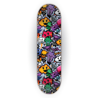 wrapping skateboard stickerbomb